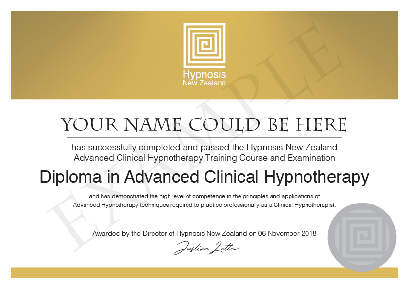 Diploma in Advanced Clinical Hypnotherapy course